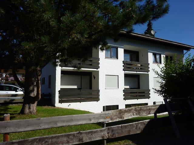 Gemütliche, rustikale FEWO mit Balkon und Garage - Obermaiselstein - Appartement