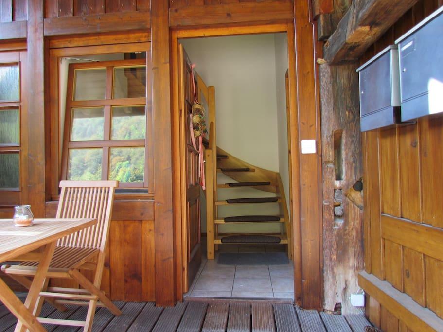 Eingang Ferienwohnungen