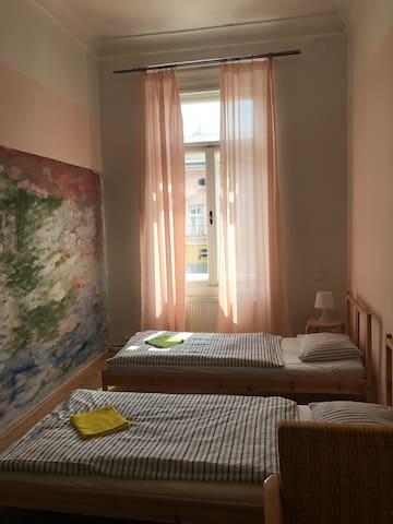 Double/twin room hostel Moravia near train station