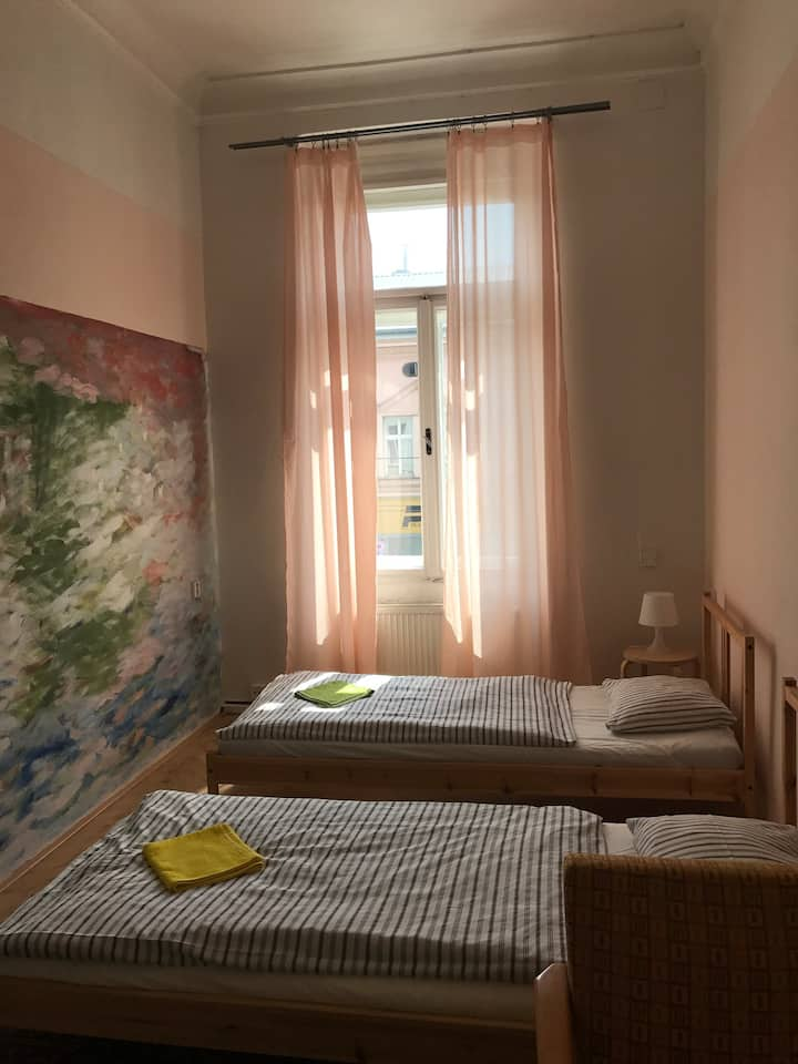 Double/twin room hostel Moravia near train station