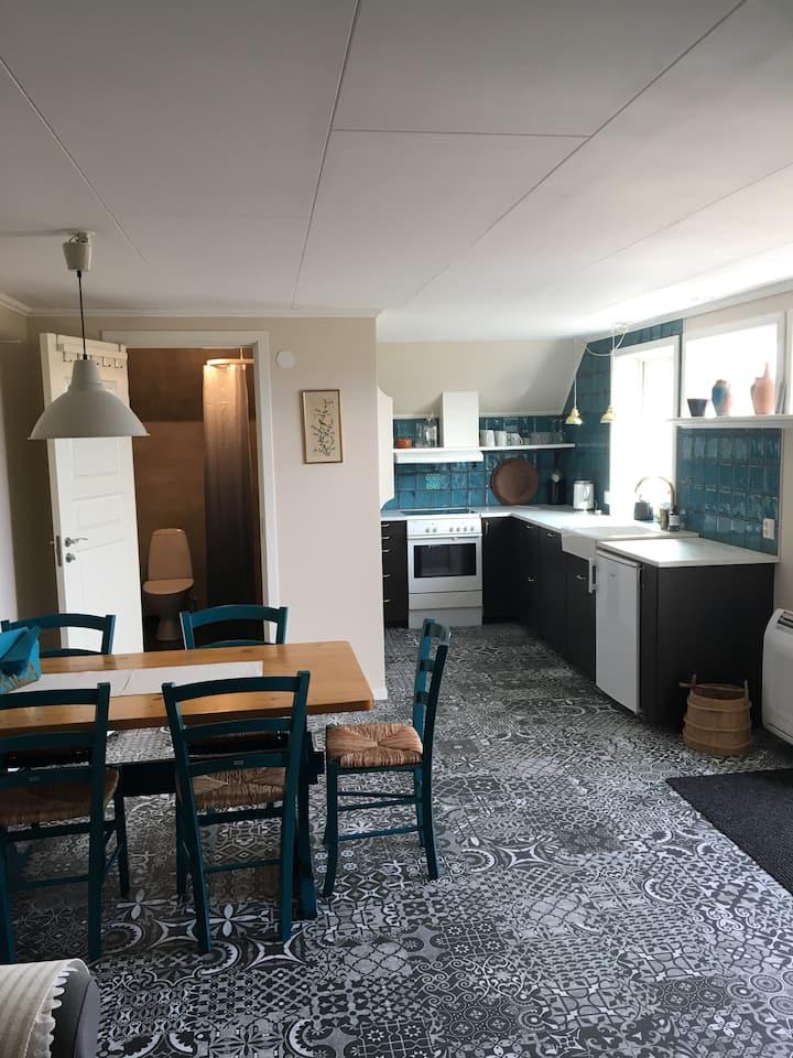Nybyggd lägenhet på landet utanför Falköping