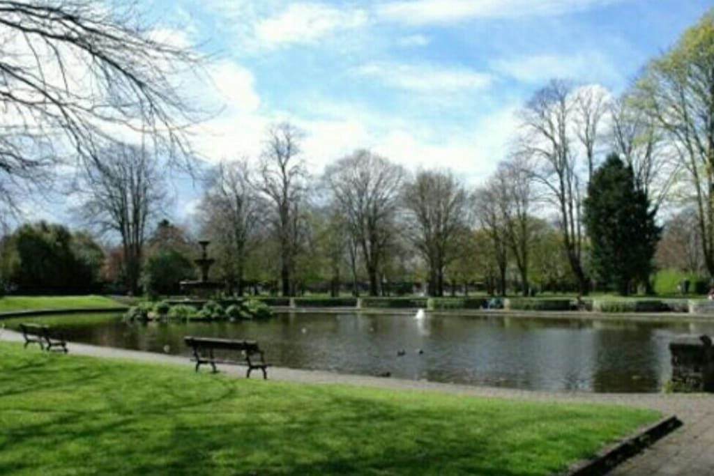 Feed the swans or picnic at the nearby Lough...