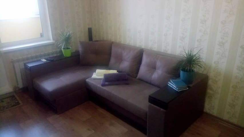 Comfortable sofa, it unfolds. Approach for two people.