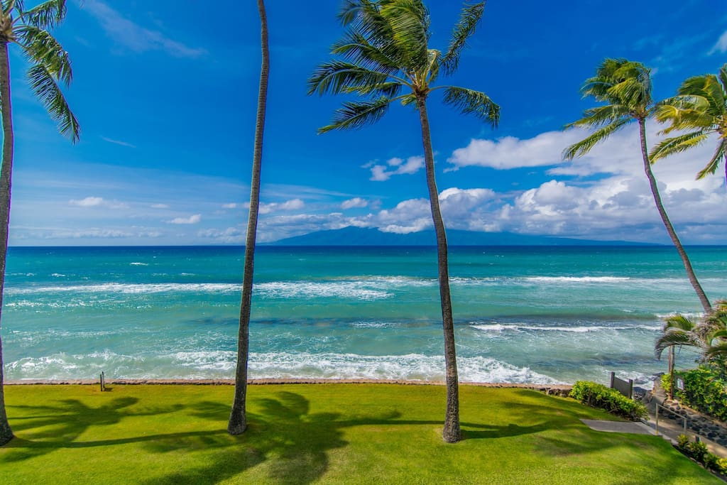Enjoy the ocean front Papakea Resort (sandy beach is found on south side of the resort)