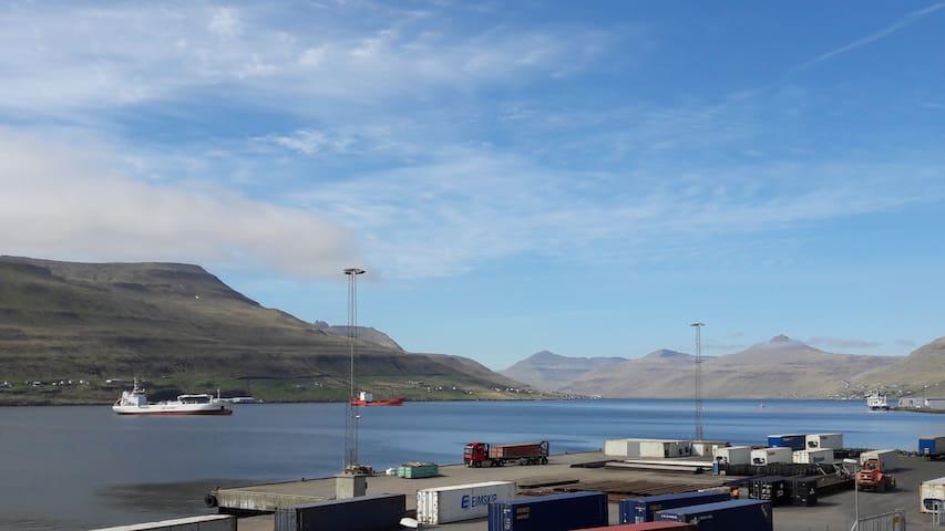 Fantastic view of land and sea - Runavik centre
