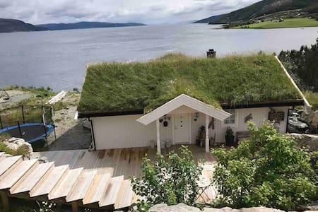 Hytte ved Trondheimsfjorden, bade og fiskemulighet