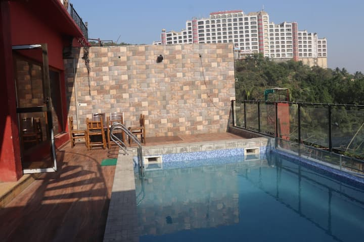 3 bhk villa with private big size pool good view