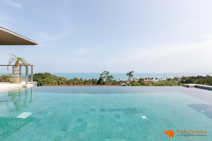 Villa Gati 3BR-LuxuryBalinese+InfinityPool-SeaView