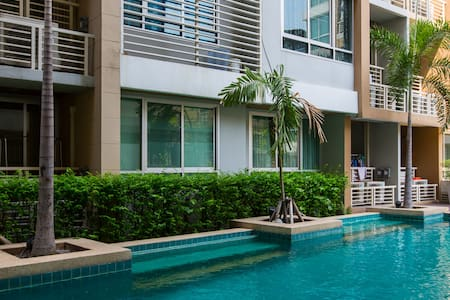 Wish Siam1, studio 2ppl, pool WiFi - Bangkok - Lägenhet