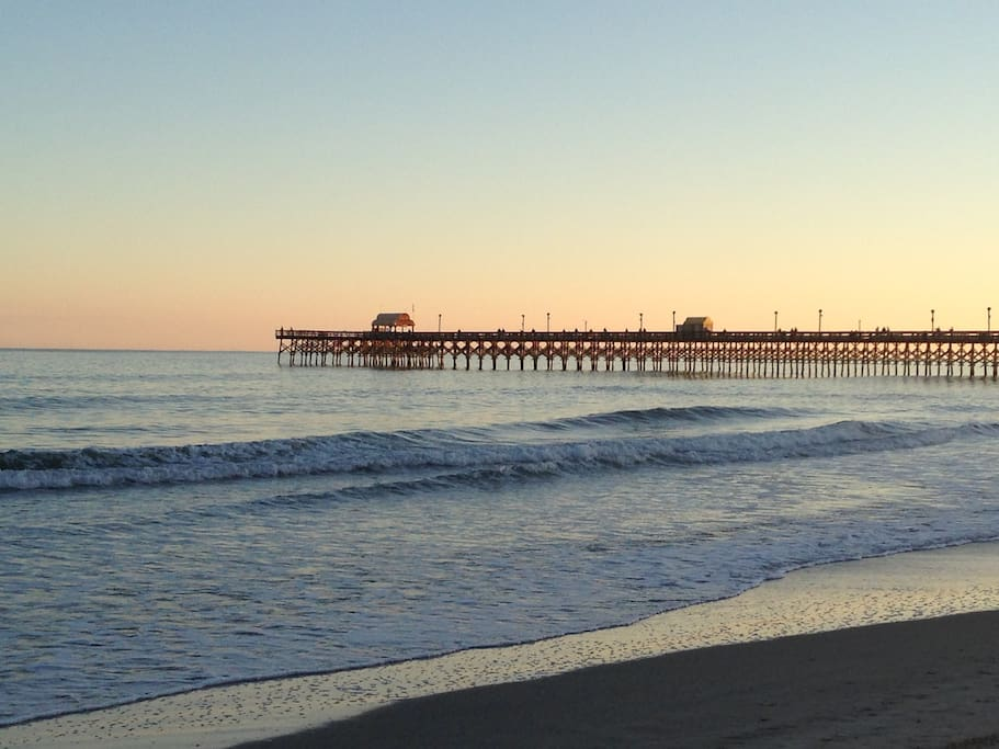 Beautiful Apache Pier....right on the beach.