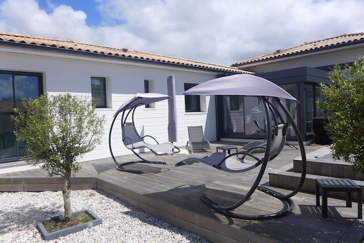 VILLA 3 ch de 130 m², 500m plage Bassin d'ARCACHON