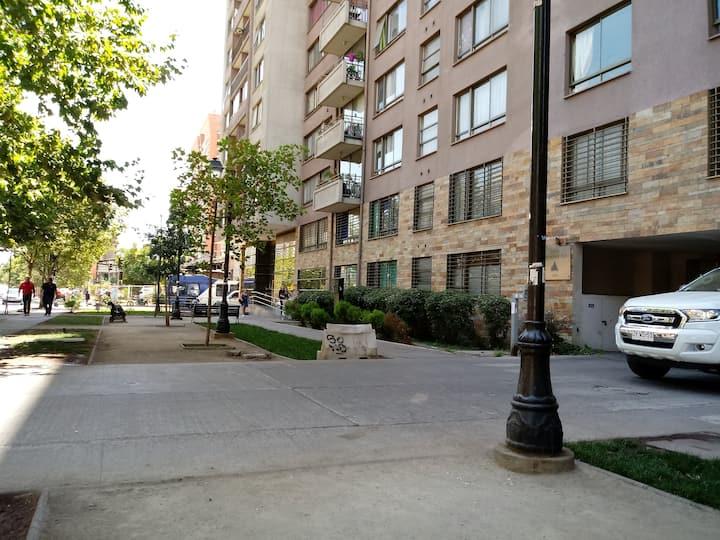 Cómoda habitación en pleno centro de Santiago