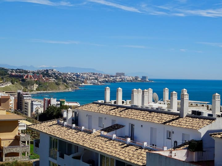 Penthouse sea view holiday apartment in Torreblanca with a big roof terrace to enjoy