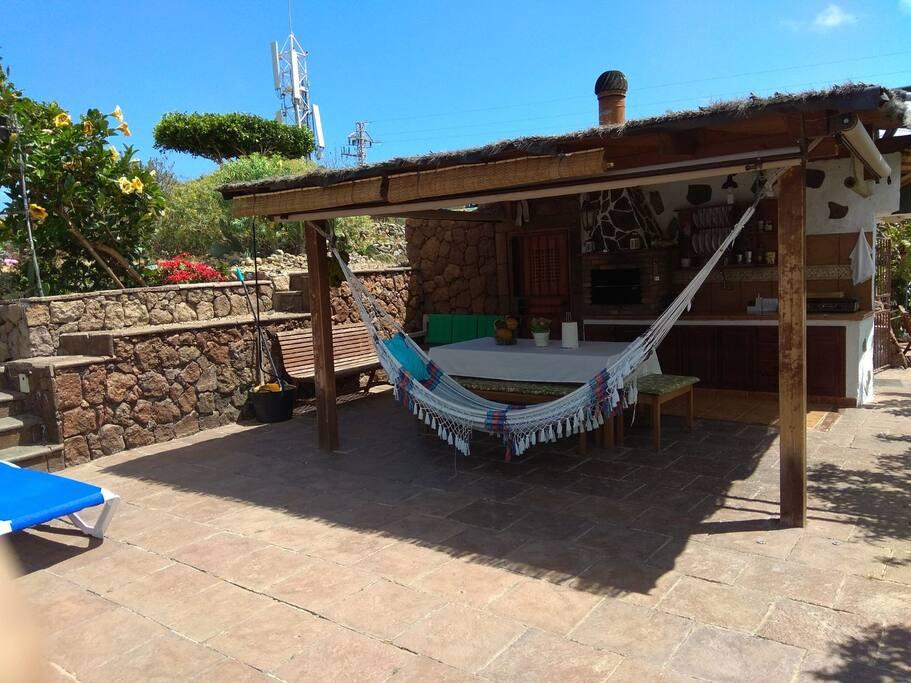 Finca con piscina privada villas en alquiler en icod de for Suite con piscina privada madrid