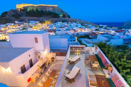 Luxury Villa Eftihia in the heart of Lindos - Lindos