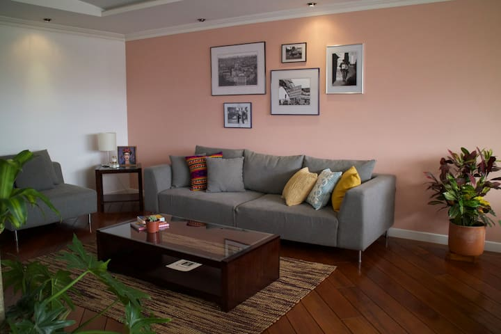 Anterior view of living room