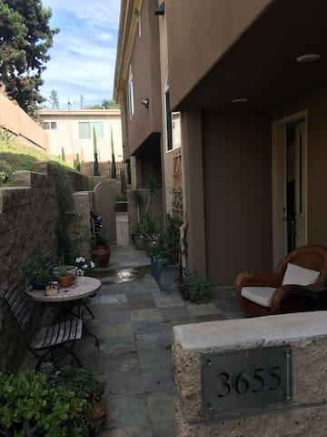 Our outdoor patio and garden