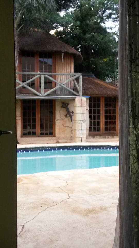 Tranquil pool and braai area
