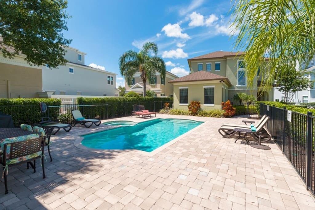 Enjoy this amazing private pool
