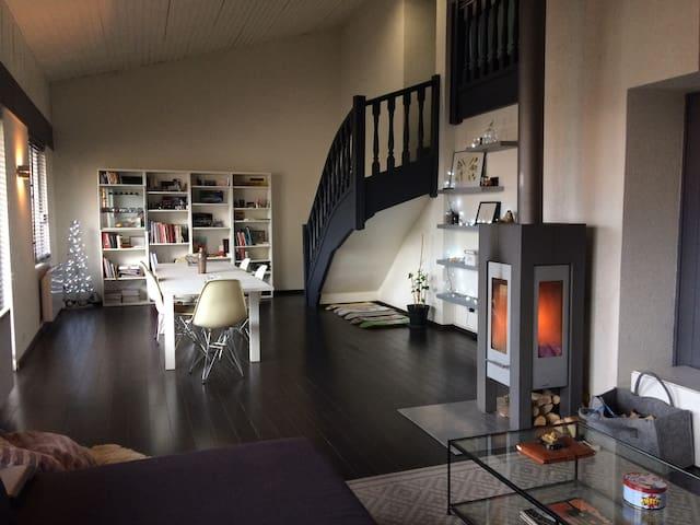 Chambre dans grand duplex moderne - Thonon-les-Bains - Apartemen
