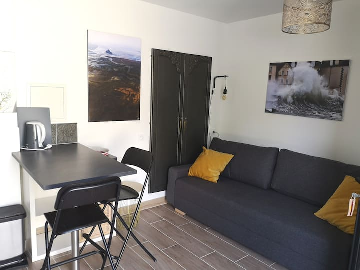 Joli studio à - de 2 km de la grande plage,St Malo