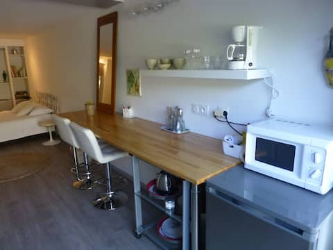 VOIRON, Self-contained studio with terrace, parking