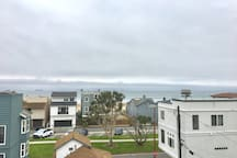 You can see Catalina from the roof   and balcony