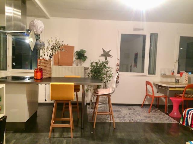 Grand appartement fonctionnel et chaleureux