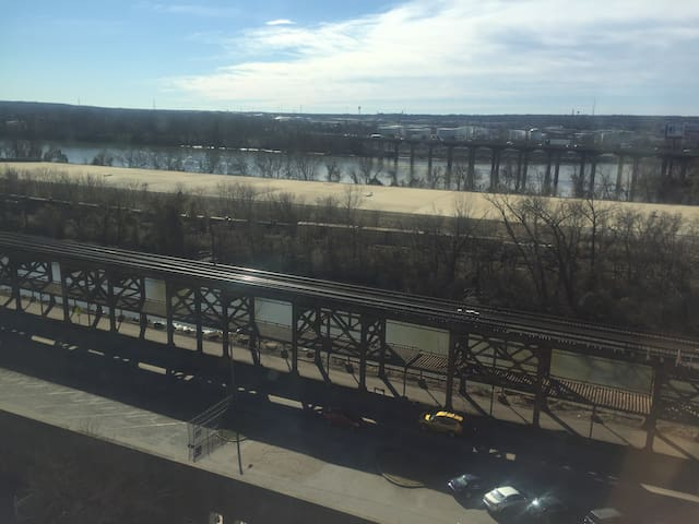 Living Room View of The James River