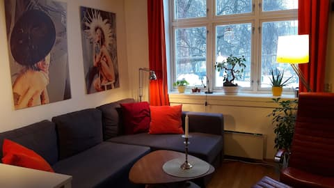 Nice room in colourful apartment, Torshov, Oslo.