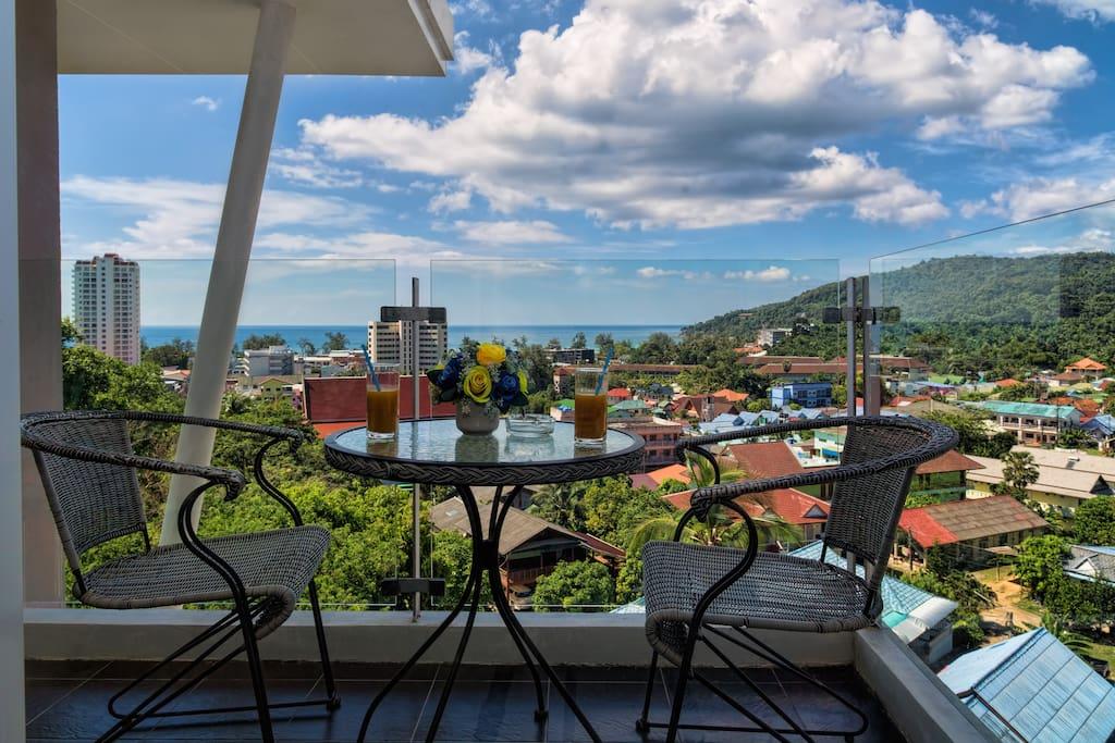 Enjoy amazing sea & mountain views from your balcony!