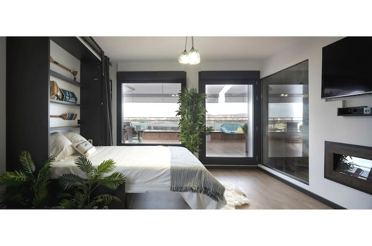 Basque Coast Penthouse Bilbao-terrace-Sea view-Jacuzzi