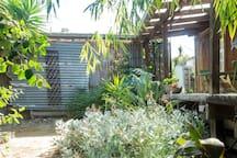Garden wraps around bungalow