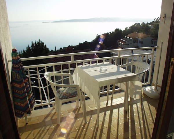 Apartmánové studio s balkónem a výhledem na moře Baška Voda (Makarská - Makarska) (AS-301-c)
