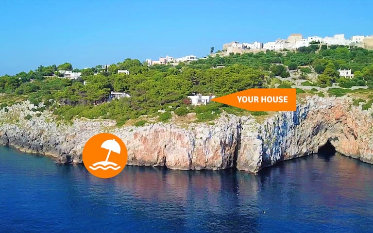 Villa with sea access, large garden and stunning views (house B)