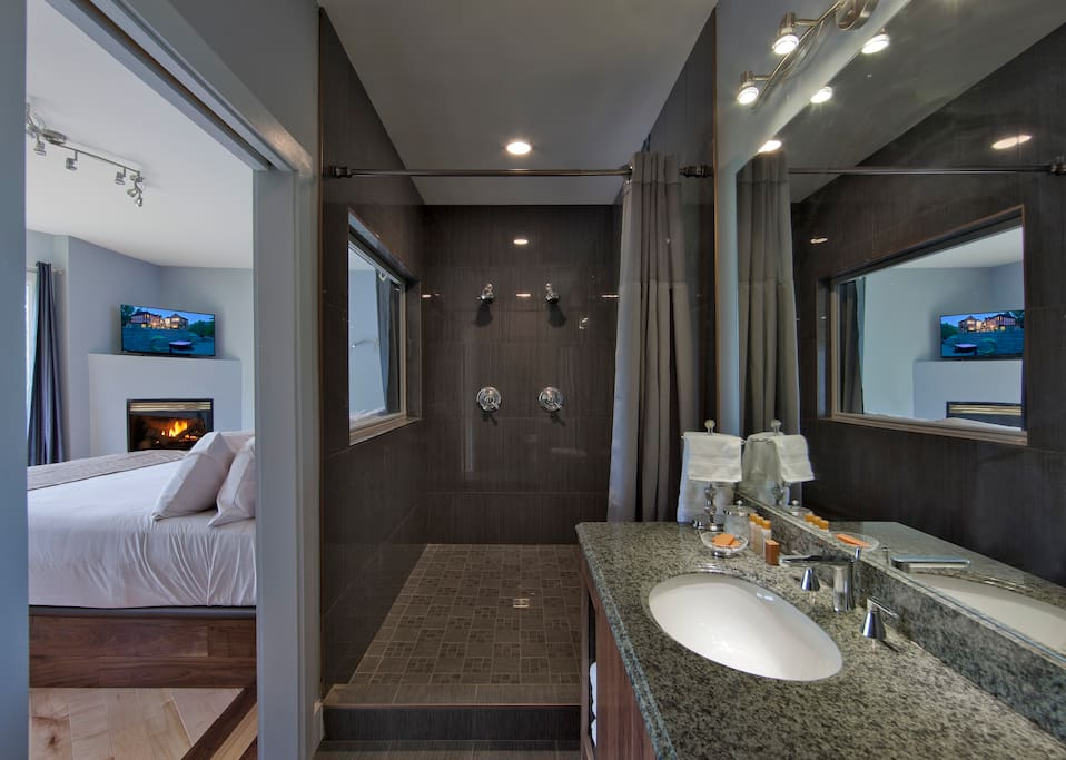Modern two person shower