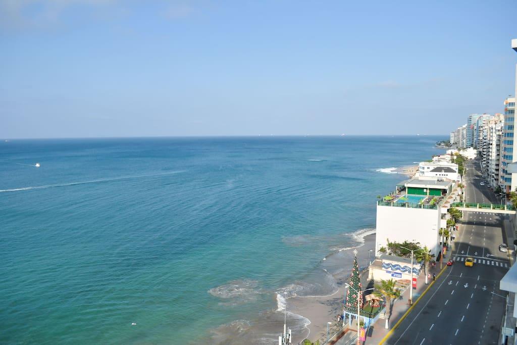 Vista frente al Mar desde Piso Nº10