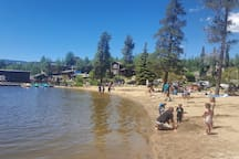 Experience one of Colorado's best kept secrets, the beach at Grand Lake!