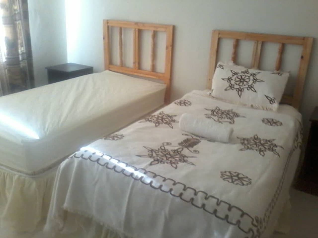 Two  very big and comfortable single beds