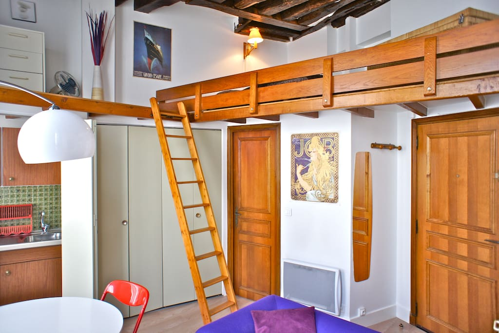 Studio mezzanine st germain des pre apartments for rent in paris le de france france - Mezzanine studio ...