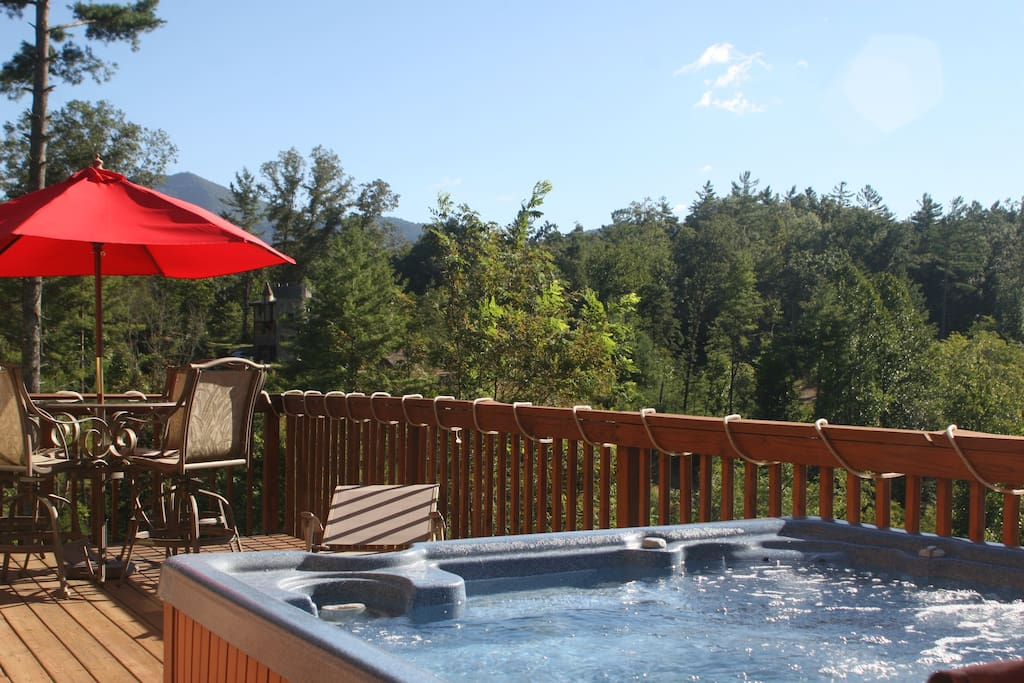 Enjoy relaxing in our  4-6 person hot tub after a long day of hiking & sightseeing!