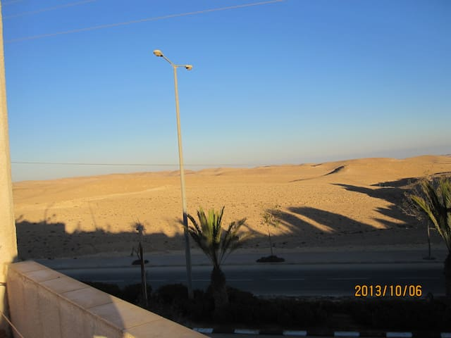 Beautiful house  desert view