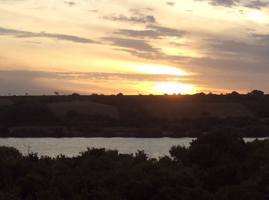 Sunset views from the house - across the river