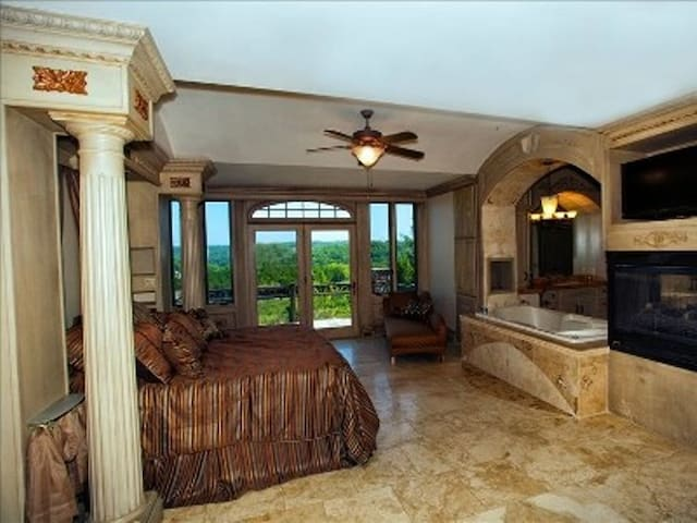 Master suite with private patio.