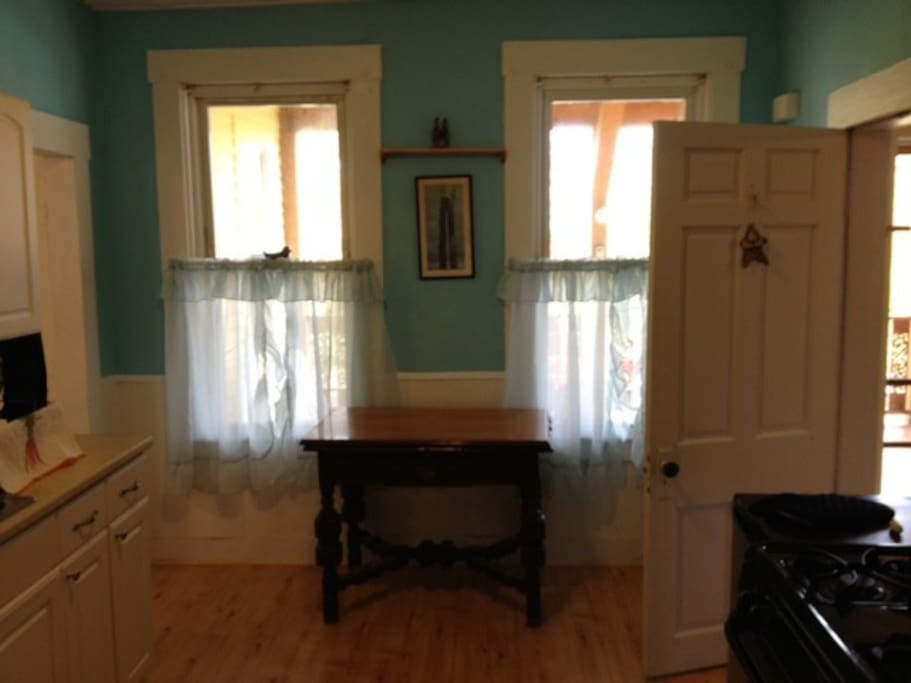 Kitchen with adjoining mud room