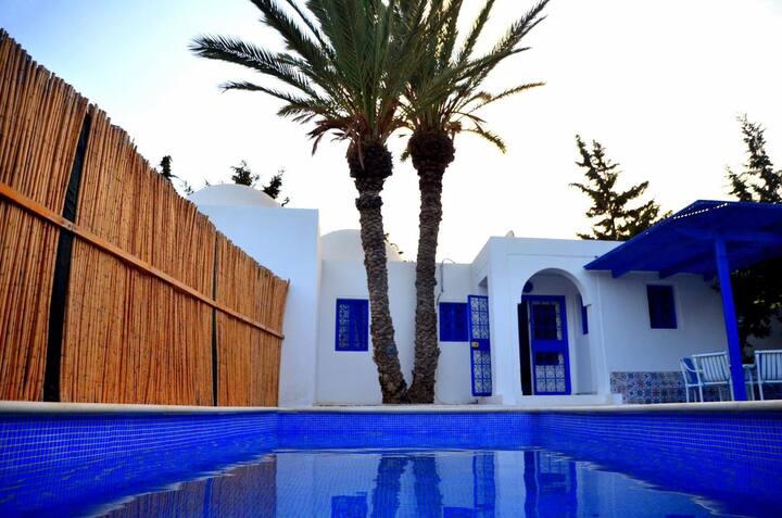 Villa Mezraya, piscine privative située à Djerba