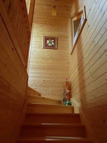 The stairs that lead you to your room.
