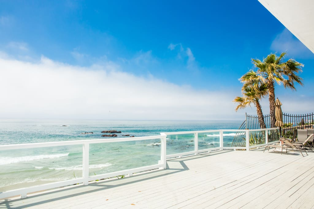 Enjoy a stunning ocean view at both sunrise and sunset on the outdoor deck