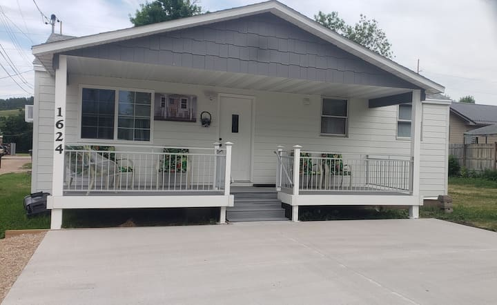 Super Sturgis Location with large deck.