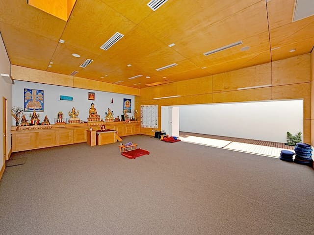 Relax and meditate in our meditation room